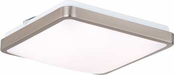 Vaxcel C0155 Aries Contemporary Satin Nickel LED 11  Flush Mount Ceiling Light Fixture