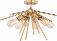 Vaxcel C0162 Estelle Modern Natural Brass 24  Overhead Lighting Fixture