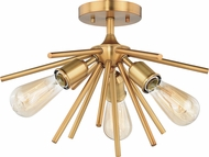 Vaxcel C0164 Estelle Modern Natural Brass 17  Ceiling Light