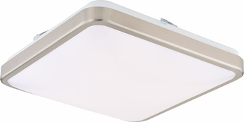 Vaxcel C0165 Aries Contemporary Satin Nickel LED 14 Ceiling Light Fixture