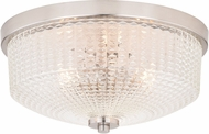 Vaxcel C0184 Ella Contemporary Satin Nickel Ceiling Lighting