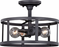 Vaxcel C0186 Akron Contemporary Oil Rubbed Bronze and Inner Matte White Ceiling Light Fixture
