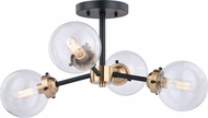 Vaxcel C0194 Orbit Modern Oil Rubbed Bronze with Muted Brass Ceiling Light