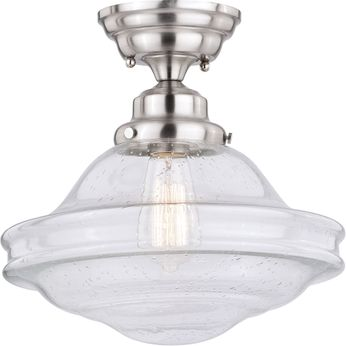 Vaxcel C0197 Huntley Contemporary Satin Nickel Ceiling Light Fixture