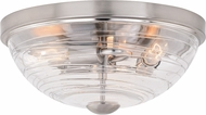 Vaxcel C0199 Isley Contemporary Satin Nickel Flush Mount Lighting