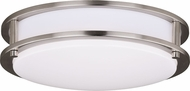 Vaxcel C0200 Horizon Satin Nickel LED 12  Overhead Lighting