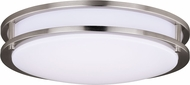 Vaxcel C0202 Horizon Satin Nickel LED 16  Flush Mount Lighting Fixture