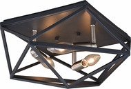 Vaxcel C0205 Hailey Contemporary Black Graphite & Satin Nickel Home Ceiling Lighting