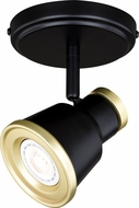 Vaxcel C0206 Fairhaven Modern Textured Black with Natural Brass LED Spot Light Indoor