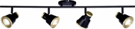 Vaxcel C0208 Fairhaven Modern Textured Black with Natural Brass LED Track Lighting