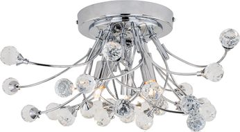 Vaxcel C0216 Astrid Chrome Halogen Ceiling Lighting Fixture
