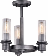 Vaxcel C0217 Astor Contemporary Brushed Slate Ceiling Light Fixture