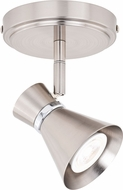 Vaxcel C0218 Alto Modern Brushed Nickel with Chrome LED Spot Light Indoor