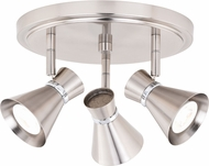 Vaxcel C0219 Alto Contemporary Brushed Nickel with Chrome LED Indoor Spot Lighting