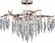 Vaxcel C0222 Rainier Modern Silver Mist Chandelier Light
