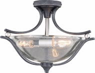Vaxcel C0223 Seville Contemporary Satin Nickel Ceiling Lighting