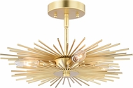 Vaxcel C0227 Nikko Contemporary Gold Ceiling Light Fixture