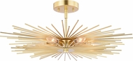 Vaxcel C0228 Nikko Modern Gold Ceiling Lighting Fixture