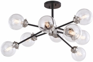 Vaxcel C0239 Orbit Contemporary Satin Nickel and Oil Rubbed Bronze Ceiling Lighting Fixture