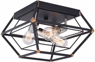 Vaxcel C0241 Bartlett Contemporary Oil Rubbed Bronze and Satin Nickel Ceiling Light Fixture