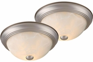 Vaxcel CC45311BN Builder Twin Packs Brushed Nickel Ceiling Light Fixture (2 pack)