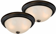 Vaxcel CC45311OR Builder Twin Packs Oil Rubbed Bronze Ceiling Lighting Fixture (2 pack)