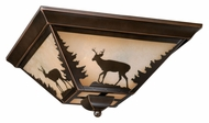 Vaxcel CC55414BBZ Bryce Country Burnished Bronze Finish 5.75 Tall Flush Mount Lighting Fixture