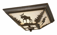 Vaxcel CC55614BBZ Yellowstone Country Burnished Bronze Finish 5.75 Tall Flush Mount Ceiling Light Fixture