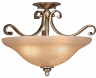Vaxcel CF35417A-C Monrovia Traditional Antique Brass Finish 12  Tall Flush Mount Lighting Fixture