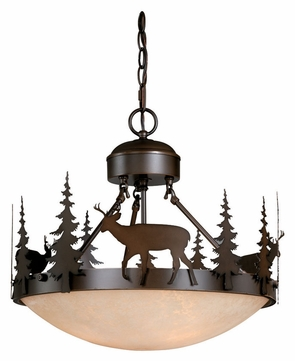 Vaxcel CF55418BBZ Bryce Country Burnished Bronze Finish 18.5 Wide Hanging Lamp