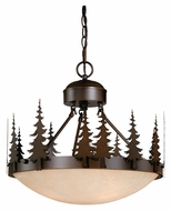 Vaxcel CF55518BBZ Yosemite Rustic Burnished Bronze Finish 16.5  Tall Hanging Light