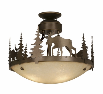 Vaxcel CF55618BBZ Yellowstone Country Burnished Bronze Finish 18.5 Wide Ceiling Lighting Fixture