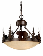 Vaxcel CF55718BBZ Bozeman Rustic Burnished Bronze Finish 16.5  Tall Pendant Light Fixture