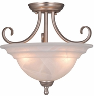 Vaxcel CF65353BN Babylon Brushed Nickel Finish 14  Wide Flush Ceiling Light Fixture