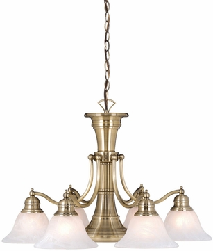 Vaxcel CH30307A Standford Retro Antique Brass Finish 26 Wide Hanging Chandelier