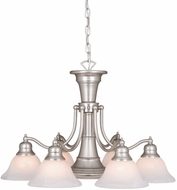 Vaxcel CH30307BN Standford Vintage Brushed Nickel Finish 18  Tall Chandelier Light