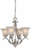 Vaxcel CH35404BN Monrovia Brushed Nickel Mini Chandelier Light