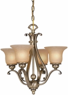 Vaxcel CH35404RBZ-B Monrovia Royal Bronze Mini Ceiling Chandelier