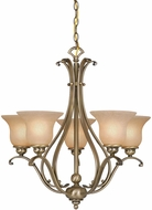 Vaxcel CH35405A-C Monrovia Antique Brass Hanging Chandelier