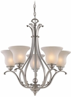 Vaxcel CH35405BN Monrovia Brushed Nickel Chandelier Light