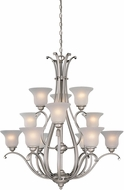 Vaxcel CH35412BN Monrovia Brushed Nickel Hanging Chandelier