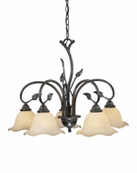 Vaxcel CH38805OL Vine Country Oil Shale Finish 22 Tall Chandelier Light