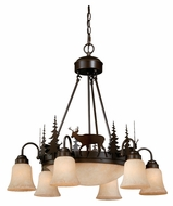 Vaxcel CH55406BBZ Bryce Country Burnished Bronze Finish 28.5 Wide Lighting Chandelier