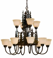 Vaxcel CH55512BBZ Yosemite Country Burnished Bronze Finish 38.5  Wide Chandelier Lamp