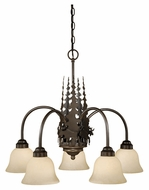 Vaxcel CH55605BBZ Yellowstone Country Burnished Bronze Finish 26  Wide Ceiling Chandelier