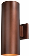 Vaxcel CO-OWB052BZ Chiasso Contemporary Bronze Finish 8 Wide Exterior Wall Sconce Lighting