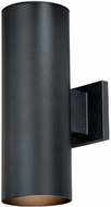 Vaxcel CO-OWB052TB Chiasso Contemporary Textured Black Finish 8 Wide Exterior Wall Light Sconce