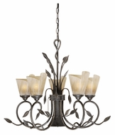 Vaxcel CP-CHB006BW Capri Country Black Walnut Finish 29  Wide Lighting Chandelier