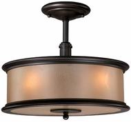 Vaxcel CR-CFU130NB Carlisle Noble Bronze Finish 13.375  Wide Overhead Light Fixture