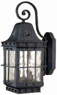 Vaxcel ED-OWD070TB Edinburgh Traditional Textured Black Finish 10.5 Wide Exterior Lighting Wall Sconce